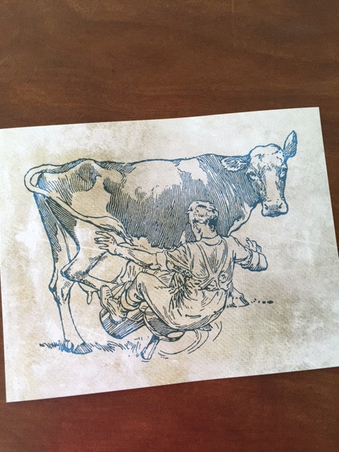 Art Prints - Farm Living Art Collection - Spilled Milk