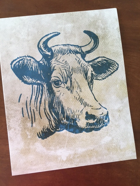 Art Prints - Farm Living Art Collection - Cow