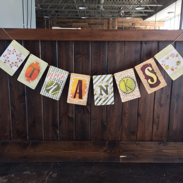 Bunting Banner-Give Thanks