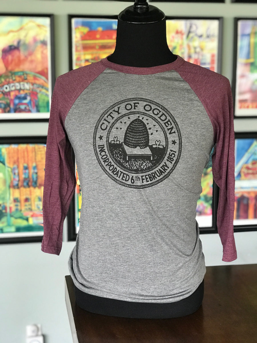 Ogden City Seal Baseball Tee