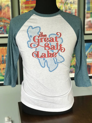 The Great Salt Lake Baseball Tee