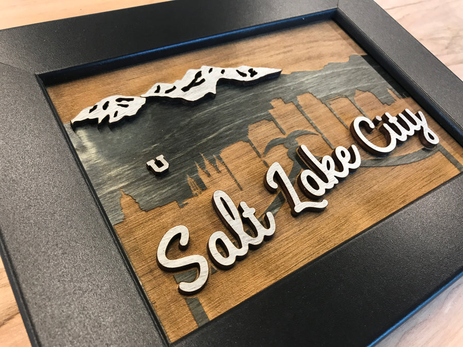 Wooden Salt Lake City Sign