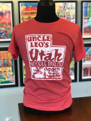 Uncle Leo's Utah Noodle Parlor Red Tee
