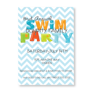 Party Invitations-Just Keep Swimming