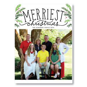 Holiday Card-Merriest Christmas