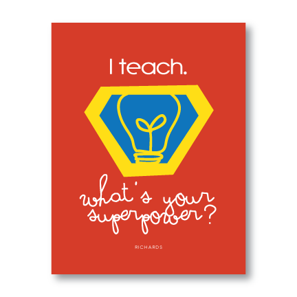 Planner-Teacher Superhero