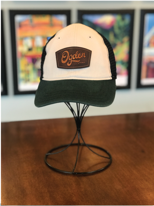 Ogden Utah Leather Patch Hat