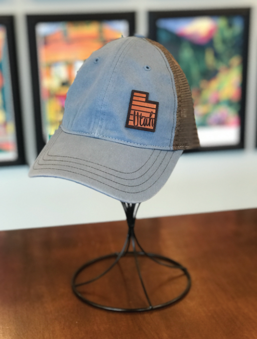 Utah Leather Patch Hat