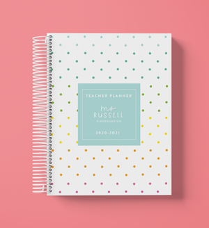 Teacher Planner-Rainbow Dots