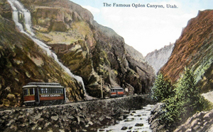 Postcard Ogden Canyon