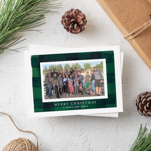 Holiday Card-2020 Green Plaid