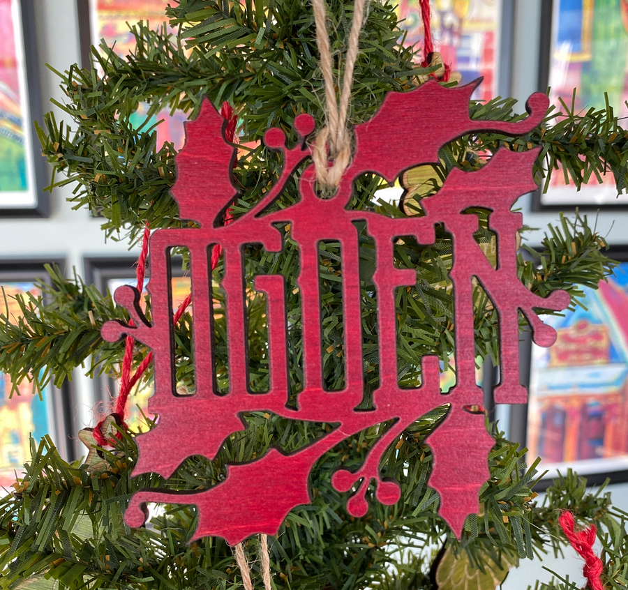 Ogden Holly Ornament