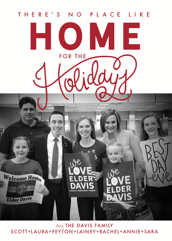 Holiday Card-Home for the Holidays