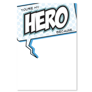 You're My Hero Because Poster