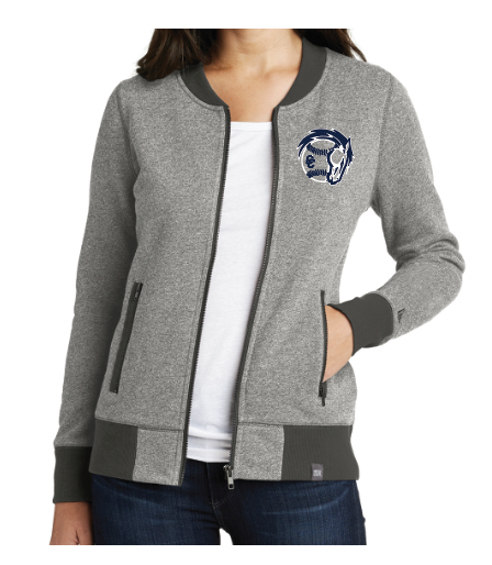 New Era® Ladies French Terry Baseball Full-Zip (LNEA503)