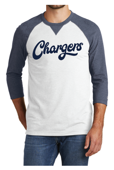 New Era® Sueded Cotton Blend 3/4-Sleeve Baseball Raglan Tee(NEA121) True Navy