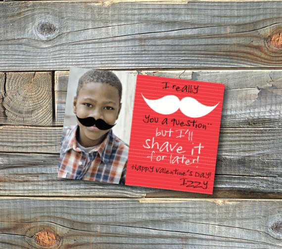 classroom valentines-shave it for later