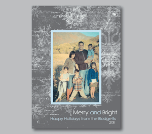 Holiday Photo Cards-Frosty