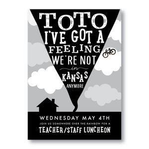 Party Invitations-Toto We're Not In Kansas