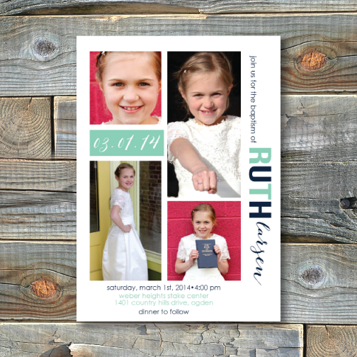 Baptism Invitations-Ruth