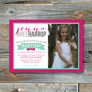 Baptism Invitations-Jenna