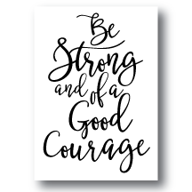 Art Prints-Be Strong
