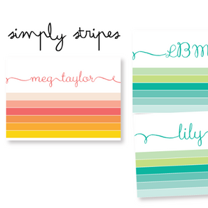 notecards-simply stripes