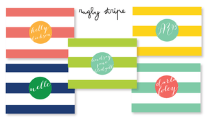 notecards-rugby stripe