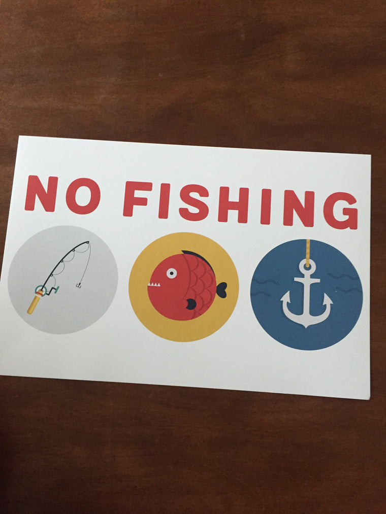 Art Prints-No Fishing