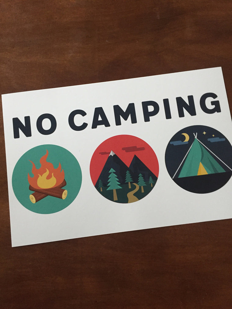 Art Prints-No Camping 2