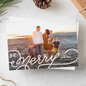 Holiday Card-Be Merry