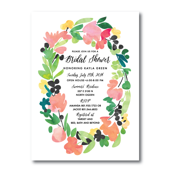 Bridal Shower Invitations- 5