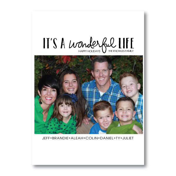 Holiday Card- It's A Wonderful Life