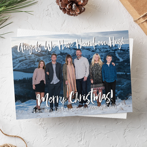 Holiday Card-Angels We Have Heard On High