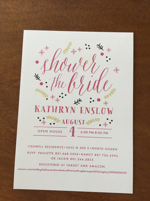 Bridal Shower Invitations- 3