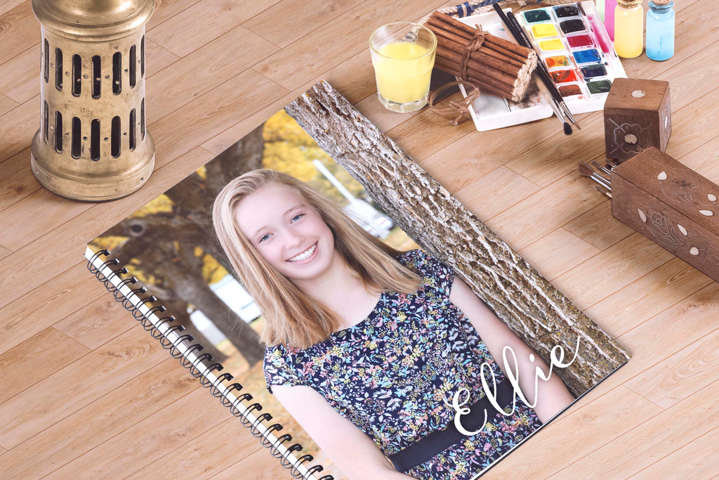 Notebooks-Photo and Young Women Theme