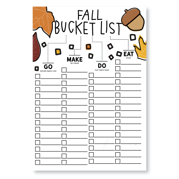 Posters-Fall Bucket List