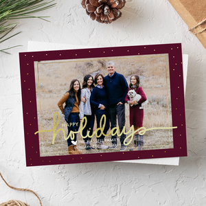 Holiday Card-Christmas Wrapping