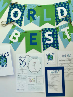 Best Dad in the World-Fathers Day Kit 2020
