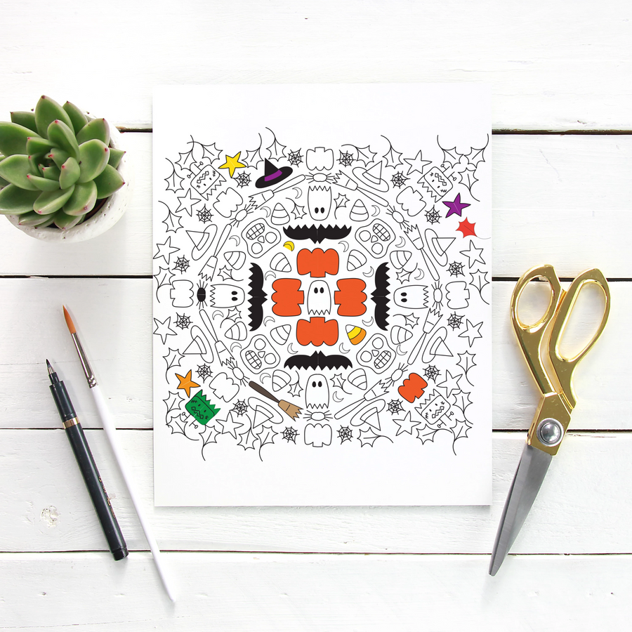 Halloween Coloring Page Printable
