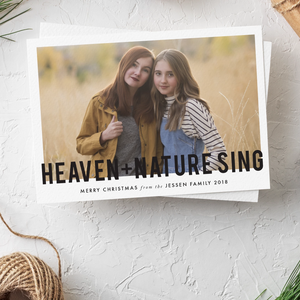 Holiday Card-Heaven and Nature Sing