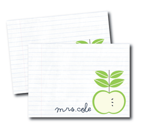 notecards-an apple for the teacher