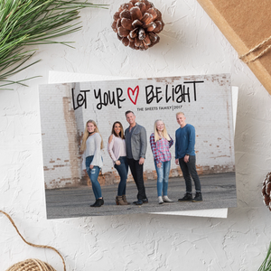 Holiday Card-Let Your Heart Be Light