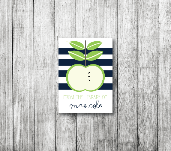 Bookplates-An Apple for the Teacher