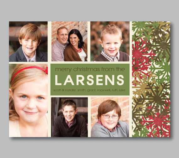 Holiday Photo Cards-Snowflakes