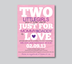 Baby Shower Invitations-Sent from Above