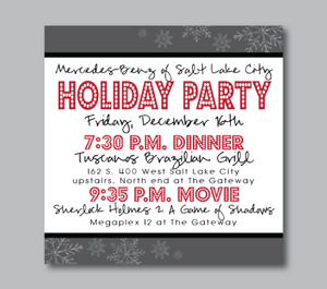 Party Invitations-Eat Drink and Be Merry