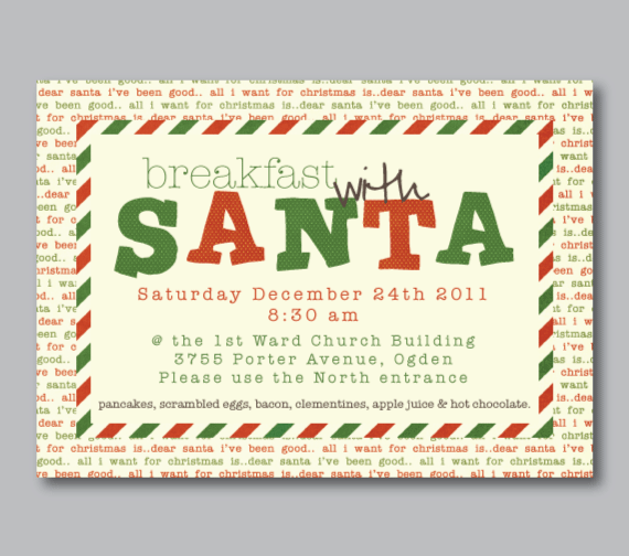 Invitations-Breakfast with Santa