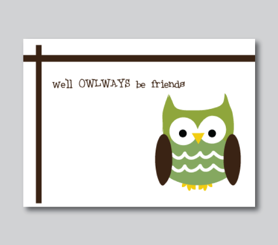 notecards-owl