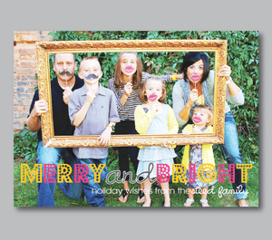 Holiday Photo Cards-Merry&Bright